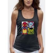 D�bardeur 3d Pixel Evolution Super Heros R�alit� Augment�e Femme Humour Geek Cadeau Original Top Shirt Spiderman Hulk Ironman Captain America