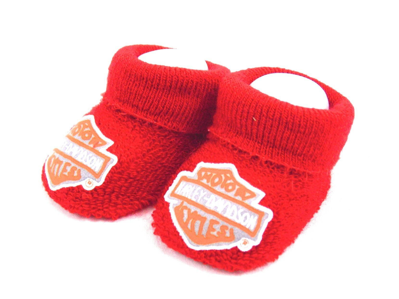 Harley Davidson Chausson Booties Bebe Born To Ride Biker Size 0 3 M