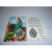 Carte Pri�re Sainte Marthe Avec M�daille Format Carte Bleue, Pri�re Au Verso, Plastifi�e