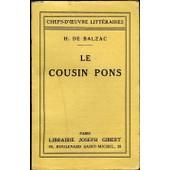 Le Cousin Pons. de honor� de balzac
