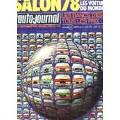 L'auto-Journal - 14-15 Septembre 1978 - Numero Special / Salon 78 - Toutes Les Voitures Du Monde - Les Bancs D4essai - Tous Les Prix Etc... de COLLECTIF