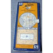 Bourges-Macon. Carte Michelin Au 1/200 000e. de michelin