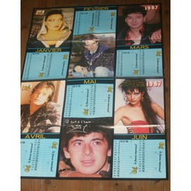 1987 poster JEANNE MAS / BRUEL / ETIENNE DAHO / LIO / MARC LAVOINE / JEAN LUC LAHAYE / HUSTER / GOLDMAN / JOHNNY HALLYDAY / SABINE PATUREL / STEPHANIE MONACO / PIERRE COSSO