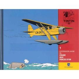 Livret En Avion Tintin 1 L'hydravion Jaune Du Crabe Au Pinces D'or