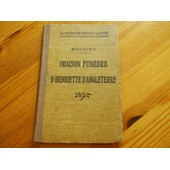 Oraison Funebre De Henriette D'angleterre de jacques-b�nigne bossuet