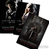 Ensemble De Posters Game Of Thrones You Win Or You Die