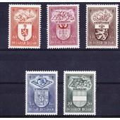 Antituberculeux � Armoiries Et Industries De Villes Belges Ii � - 1947 � 5 Valeurs � N� 756 � 760