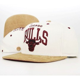 Casquette Mitchell & Ness Chicago Bulls PerfArc Snapback Crème