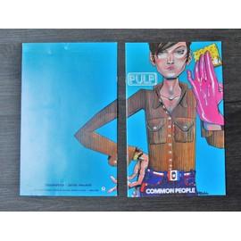 Pulp BD Collector en anglais pour la sortie de Common People 1995 6 pages 20X30