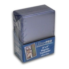 25 Ultra Pro Toploader - Ultra Clear - Regular - Top Loader - 3