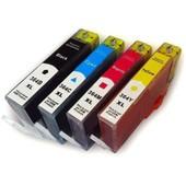 Pack 4 Cartouches Couleurs Compatibles Hp 364 Xl - Jaune, Cyan, Magenta, Noir
