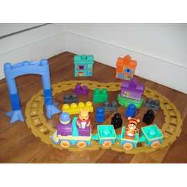 Train Winnie L'ourson Mega Bloks + Lot De Briques De Construction