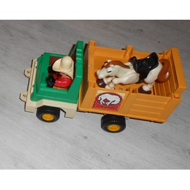 Vintage Camion � Chevaux Bestiaux Fisher Price 1979