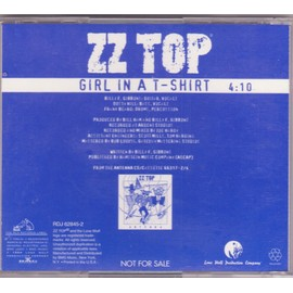 ZZ TOP CD MAXI monotitre USA ONLY girl in a T-shirt 4'10