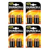 Lot De 16 Piles Duracell Mn 1500 Alkaline Alcaline Lr6 Aa