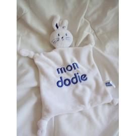 Doudou Lapin Blanc Mon Dodie