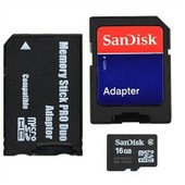 Sandisk 16go Micro Sd Tf To Ms Pro Duo Adpater For Sony Psp