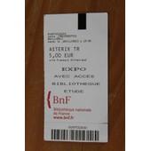 Billet Tarif Reduit - Exposition Asterix A La Bibliotheque Nationale De France