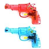 2 Pistolet A Eau Colt 14 X 8.5 Cm Cm Rouge Et Bleu Jouet