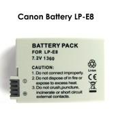 Mondpalast LP-E8 Remplacement Batterie Li-ion type avec infochip pour Canon EOS 700D 550D 600D 650