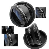 Mondpalast � Objectifs Fisheye + Grand-Angle + Macro Kit Photo Large Macro Panoramique Lentille Pour Iphone 5s Galaxy S5 G900 Galaxy Note 3 N9000 Nexus 5 Lg G Pro 2 G2 G3 G2 Mini Htc One M8 Sony Xperi