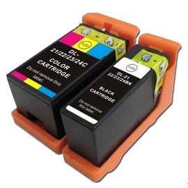 2 Cartouches D'encres Compatible Pour Dell 21, 22, 23, 24 Dell V313 V313w V515 V515w V715 V715w P513 P513w P713 P713w
