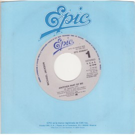 "7"" Another part of me 3'47 / instrumental 3'47 SPAIN ONLY Epic Firm Cover"
