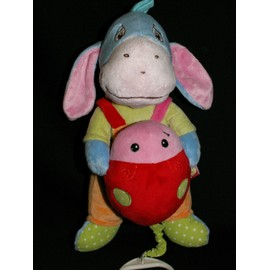 Doudou Musical. Disney. Bourriquet Bleu Orange Vert. Coccinnelle Rouge.