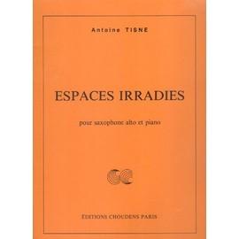 Espaces irradiés pour saxophone alto et piano