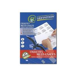 Qrt Graphique Etiquettes Multi-Usages D�finition - �tiquettes Adh�sives - Blanc - 35 X 105 Mm 1600 �tiquette(S) ( 100 Feuille(S) X 16 )