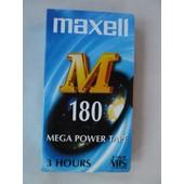 Lot de 3 cassettes VHS Maxell 180 - 3h