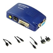PC VGA � TV Composite Video Converter RVB / TV AV RCA S -Video Adapter Converter Box Dot� d'une conn