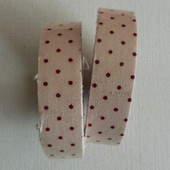 1 Masking Tape, Ruban Adh�sif Scrapbooking Pois Rouge Fond Beige