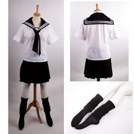 Ensemble Robe Uniforme Scolaire Japonais Sailor Fuku Loose Socks ...