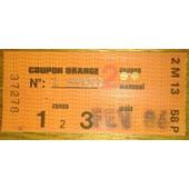 Coupon De Carte Orange F�vrier 1986