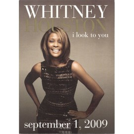 "Whitney Houston ""I Look To You"" [Rare Edition Limitée 2009 Poster/Affiche 28 x 43cm sortie Albu]"