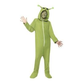 D�guisement D'alien Vert Pour Enfant Taille : 10/12 Ans