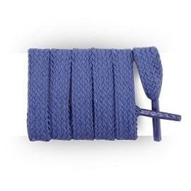 Lacets Chaussures De Sport Plats Et Larges 120 X 0.8 Cm - Bleu Azur