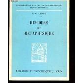 Discours De Metaphysique / Bibliotheque Des Textes Philosophiques. de LEIBNIZ (HENRI LESTIENNE)
