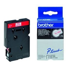 Brother - Blanc, Rouge - Rouleau (0,9 Cm X 7,7 M) 1 Unit�s Bande Imprimante - Pour P-Touch Pt-15, Pt-20, Pt-2000, Pt-3000, Pt-500, Pt-5000, Pt-6, Pt-8, Pt-8e