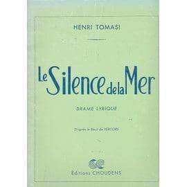Le Silence de la Mer - Drame Lyrique Pour Baryton et Orchestre. 1 Seul Personnage Partition - Chant piano