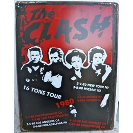 affiche de concert the clash en metal