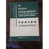 Les Lectures St�nographiques Textes Commerciaux Foucher de jean et guy brousse