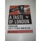 Carte Invitation Inauguration Exposition A Taste Of London Focus Sur Le Studio Nexus