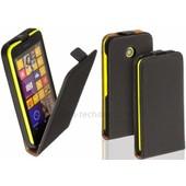 Housse Etui Coque Pochette Pu Cuir Fine Pour Nokia Lumia 630 635 + Film Ecran - Noir