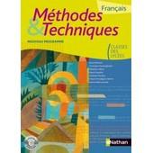M�thodes Et Techniques Fran�ais Toutes Les Classes Nouveau Programme de Nathan