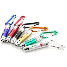 Porte Cl�s - Pointeur Laser Faisceau Rouge Et Mini Torche 2 Lampes Led .