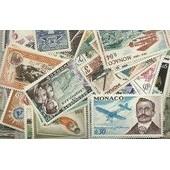 Lot De 50 Timbres De Monaco Tous Diff�rents