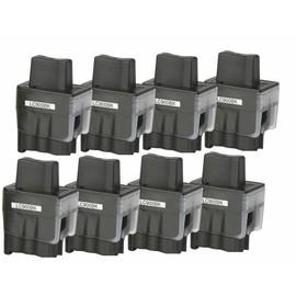 8 Cartouches D'encres Compatible Pour Brother Lc900 Lc-950 Bk Brother Dcp-110c Dcp-115c Dcp-120 Dcp-310cn Dcp-320cn Fax-1835c Fax-1840c Fax-1940cn Fax-2440c Mfc-210 Mfc-215c Mfc-410cn Mfc-420cn
