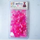 Env. 170 Petites Perles Et Enfile Perle Pour Cheveux.